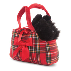 Fancy Pal Scottie in Tartan Bag 8In