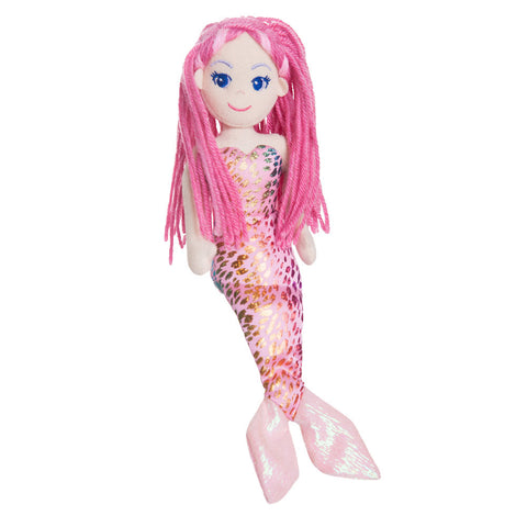 Pink mermaid soft toy - gift ideas