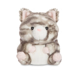 Rolly Pets Lucky Grey Tabby Cat 5In