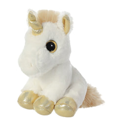 Golden unicorn cuddly toy