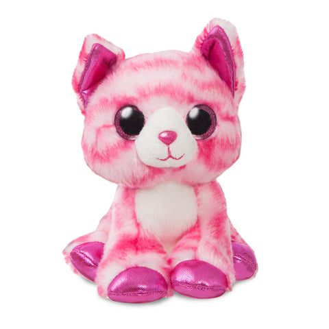 Pink cuddly cat soft toy. Milly the cat.
