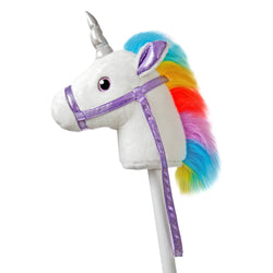 Unicorn hobby horse for kids.