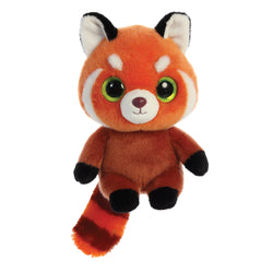 Hapee the Red Panda from the YooHoo collection soft toy – 8 inches - Aurora World LTD