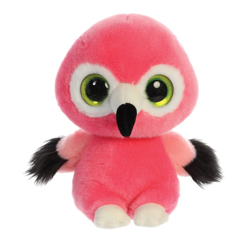 Mango the Flamingo from the YooHoo collection soft toy – 8 inches - Aurora World LTD