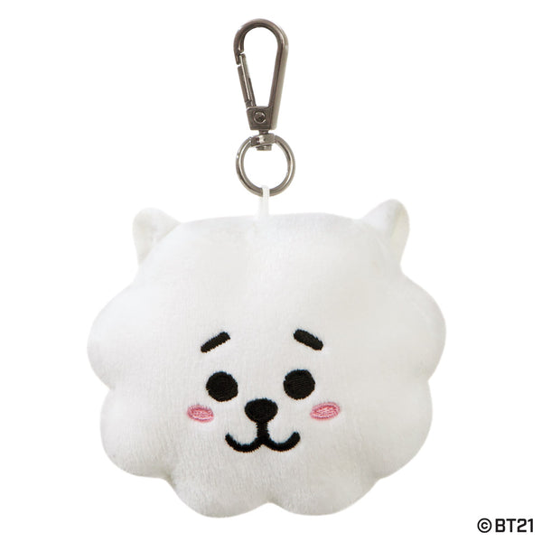 BT21, RJ Plush Key Clip, White - Aurora World LTD