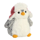 Pom Pom Penguin w/Trapper Hat 9In - Aurora World LTD