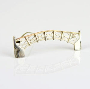 Ambery-Smith, Vicki – Silver and Gold Brooch, Mathematical Bridge