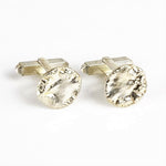 Belsher, Holly – Silver Cufflinks, Circular Textured | Holly Belsher | Primavera Gallery