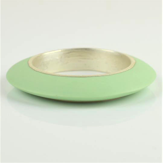 McDonald, Jo – Porcelain and Silver Boat Bangle | Jo McDonald | Primavera Gallery
