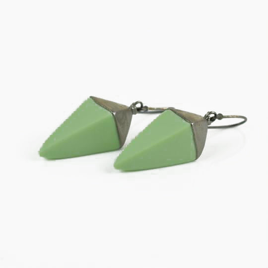 McDonald, Jo – Porcelain and Silver Prism Drop Earrings | Jo McDonald | Primavera Gallery