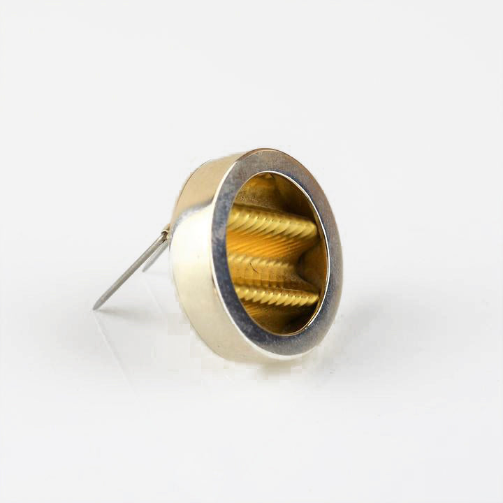 Mogridge, Emma – Silver and Gold 'Pebble' Brooch | Emma Mogridge | Primavera Gallery