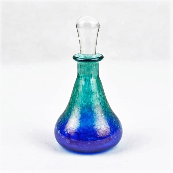 Sanders and Wallace – Tall Scent Bottle in Ocean Blue | Sanders and Wallace | Primavera Gallery