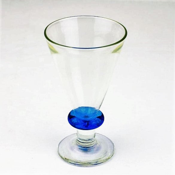 Sanders and Wallace – Medium Wine Glass - Blue Stemmed | Sanders and Wallace | Primavera Gallery