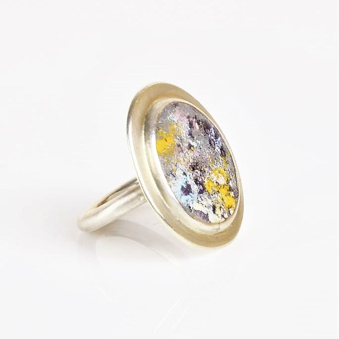 Beckett, Catherine – Silver and Multicoloured Enamel Ring | Catherine Beckett | Primavera Gallery