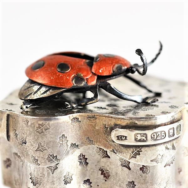 Mather, Carol – Ladybird on Oak Leaf Box | Carol Mather | Primavera Gallery