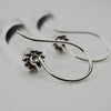 Silver and Crystal Rock Earrings | Nobuko Okumura | Primavera Gallery