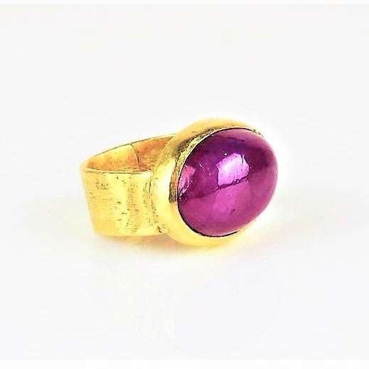 Allsopp, Disa – Gold and Cabochon Ruby Ring