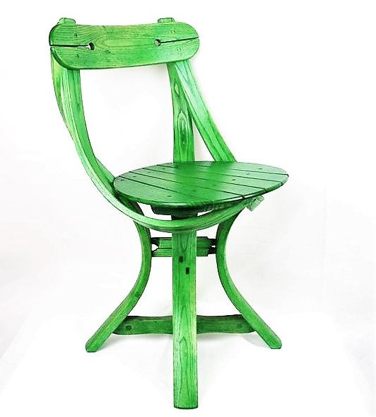 Hussey, Dan – Green Wooden Chair | Dan Hussey | Primavera Gallery