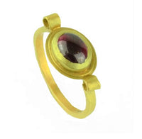 Krinos, Daphne – Gold and Oval Garnet Ring | Daphne Krinos | Primavera Gallery