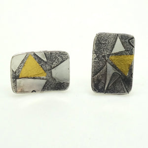 Briggs, Jessica – Gold and Oxidised Silver Studs