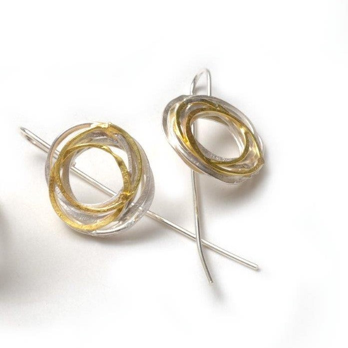 Carlow, Shimara – Gold and Silver Wrap Earrings | Shimara Carlow | Primavera Gallery