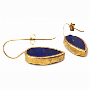 Gold and Lapis Lazuli Earrings | Rebecca Smith | Primavera Gallery