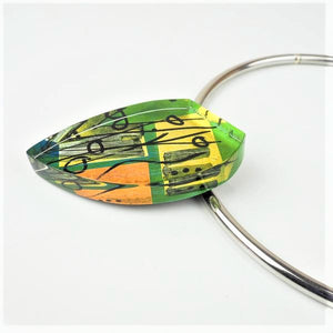 Klevan, Gale – Acrylic Necklace, Drop Shaped | Gail Klevan | Primavera Gallery