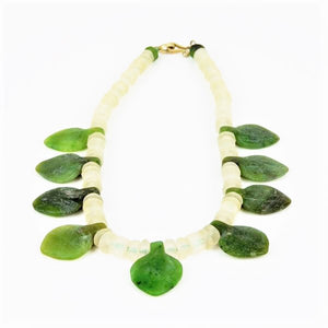 Royle, Guy – Nephrite and Quartz Crystal Necklace