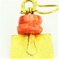 Royle, Guy – Gold Carnelian Earrings