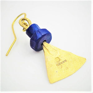 Royle, Guy – Gold Lapis Lazuli Earrings | Guy Royle | Primavera Gallery