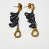 Oxidised Silver and 22ct Gold Plate Earrings | Nobuko Okumura | Primavera Gallery