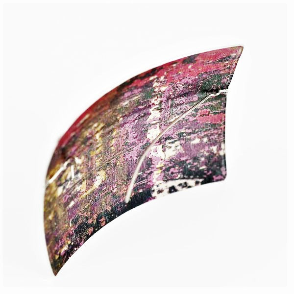 Adam, Jane – Oblong Dyed Aluminium Brooch | Jane Adam | Primavera Gallery