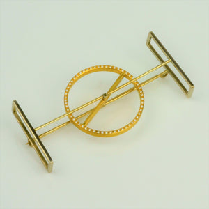 Ruberg, Kamilla – Gold Diamond Kinetic Brooch | Kamilla Ruberg | Primavera Gallery