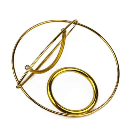 Gold Diamond Kinetic Ring | Kamilla Ruberg | Primavera Gallery