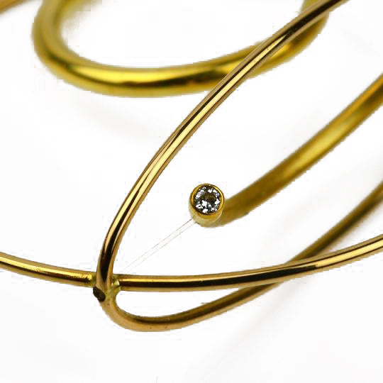 Ruberg, Kamilla – Gold Diamond Kinetic Ring | Kamilla Ruberg | Primavera Gallery