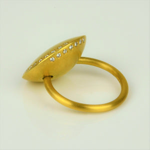 Gold Diamond Ring | Kamilla Ruberg | Primavera Gallery