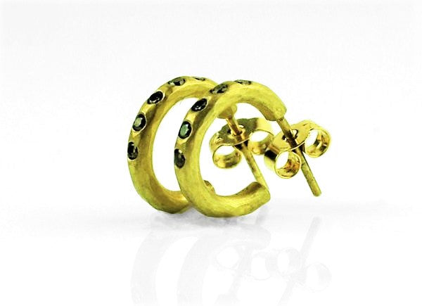 Betts, Malcolm – Gold and Yellow Diamond Earrings | Malcolm Betts | Primavera Gallery