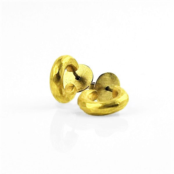 Betts, Malcolm – Gold Hoop Stud Earrings | Malcolm Betts | Primavera Gallery