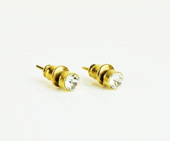 Betts, Malcolm – Small Gold Diamond Earrings | Malcolm Betts | Primavera Gallery