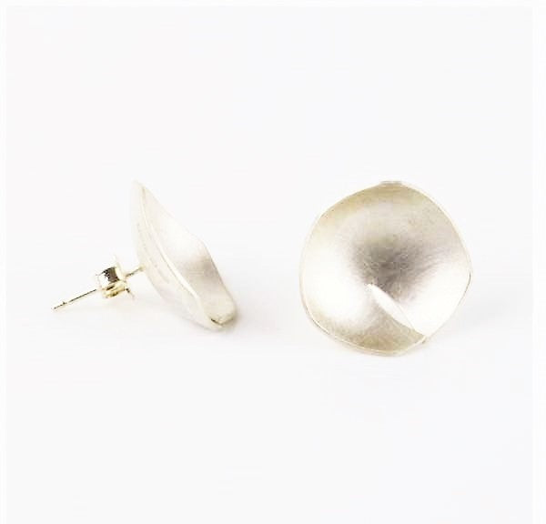 'Twisted Ball' Silver Earrings | Michele Wyckoff Smith | Primavera Gallery