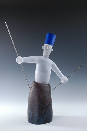 "Glass Sculpture ""Marionette III"" 