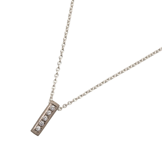 Silver, Gold and Diamond Wedge Pendant Necklace | Natalie Harris | Primavera Gallery