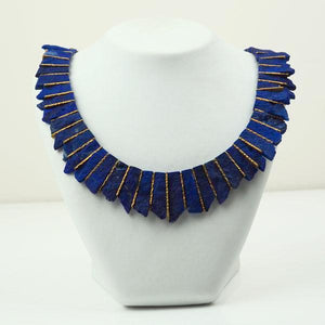 Gold and Lapis Lazuli Tab Necklace | Rebecca Smith | Primavera Gallery