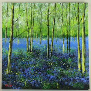 Bluebell Wood Painting | Terry Wood | Primavera Gallery