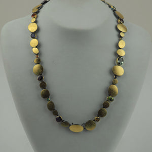 Gold and Silver Necklace with Cut Gemstones | Kai Klosowski | Primavera Gallery