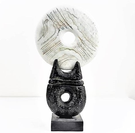 Hayes, Peter – Ceramic Sculpture with Circular Disk | Peter Hayes | Primavera Gallery