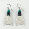 Enyx, Turquise and Silver Earrings | Duibhne Gough | Primavera Gallery