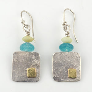 Gough, Duibhne – Gold and Silver Hand Beaten Earrings | Duibhne Gough | Primavera Gallery