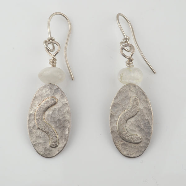 Gough, Duibhne – Moonstone and Silver Earrings | Duibhne Gough | Primavera Gallery