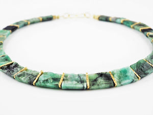 Emerald Collar Necklace | Rebecca Smith | Primavera Gallery